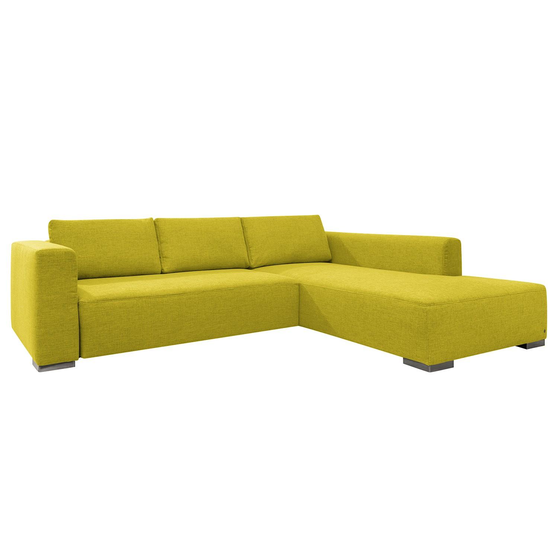 goedkoop Hoekbank Heaven Colors Style XL geweven stof longchair vooraanzicht rechts Zonder slaapfunctie Stof TCU5 cool lemon Tom Tailor