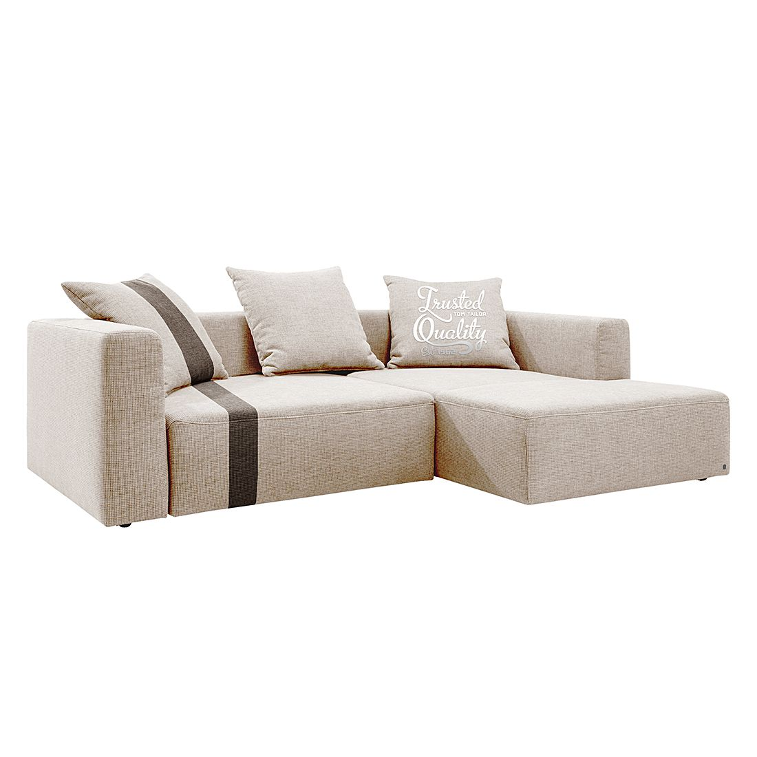 Ecksofa Heaven Stripe Webstoff Longchair