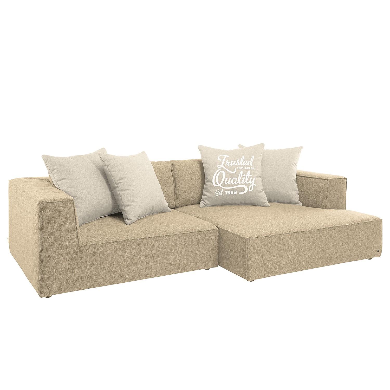 Canapé d'angle Kelong Tissu structuré - Sable, Tom Tailor