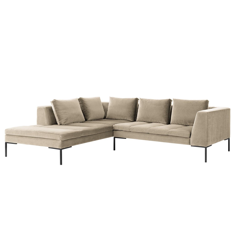 Canapé d'angle Madison - Velours - Courte à gauche (vue de face) - 255 cm - Tissu Shyla Beige, Studio Copenhagen