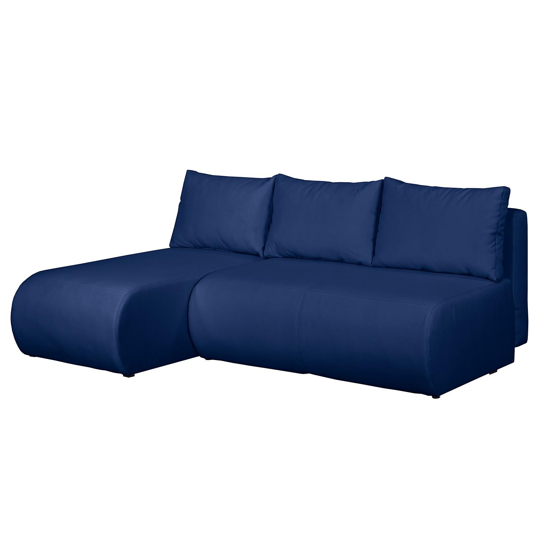 home24 Fredriks Ecksofa Rio Maria S Meerblau Strukturstoff 197x75x148 cm (BxHxT) mit Schlaffunktion/Bettkasten Modern