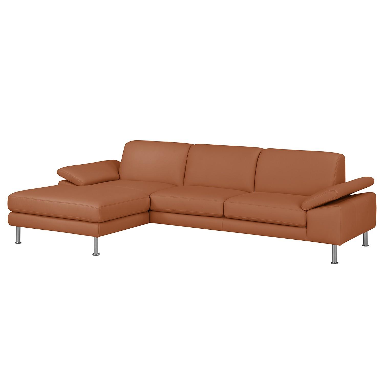home24 Fredriks Ecksofa Termon IV Cognac Echtleder 280x82x168 cm (BxHxT) Modern