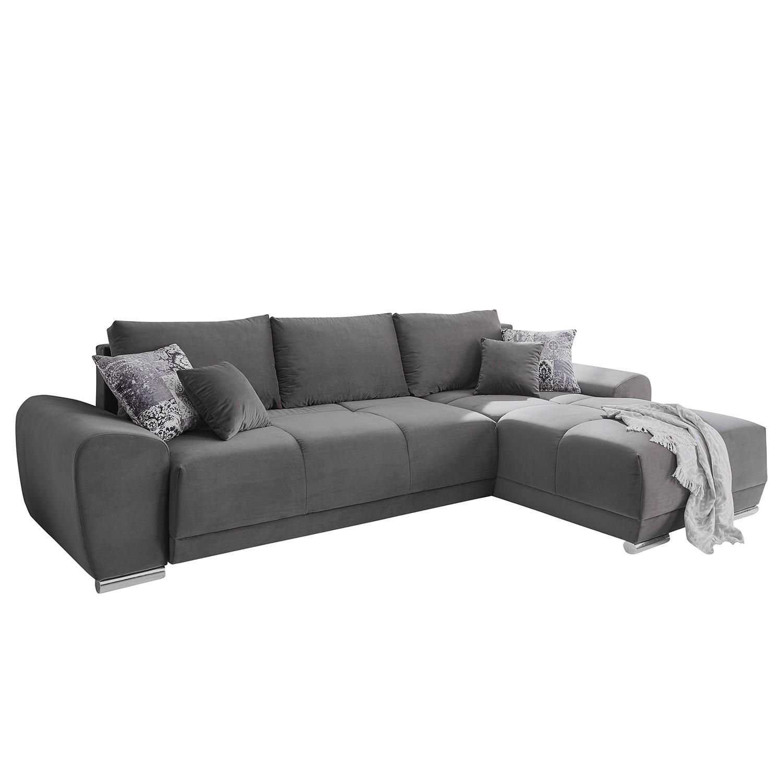 Canapé d'angle Vici (avec fonction couchage / montable des deux côtés) - Microfibre, loftscape