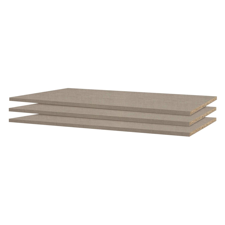 Rauch Pack´s Einlegeboden Rasant-Extra Naturfarbene Leinenoptik Spanplatte 3er Set 82x1.6x36 cm (BxHxT)