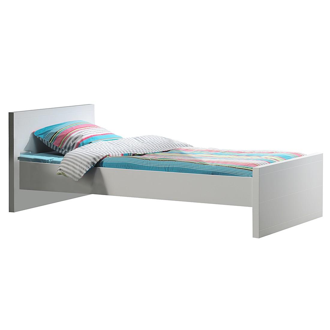 home24 Einzelbett Lara | Schlafzimmer | Weiss | Holz | Vipack