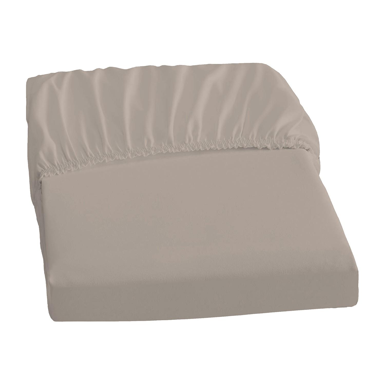 home24 Elastic-Jersey-Spannbetttuch   Heimtextilien > Bettwäsche und Laken > Bettlaken   Braun   Textil   Dormisette