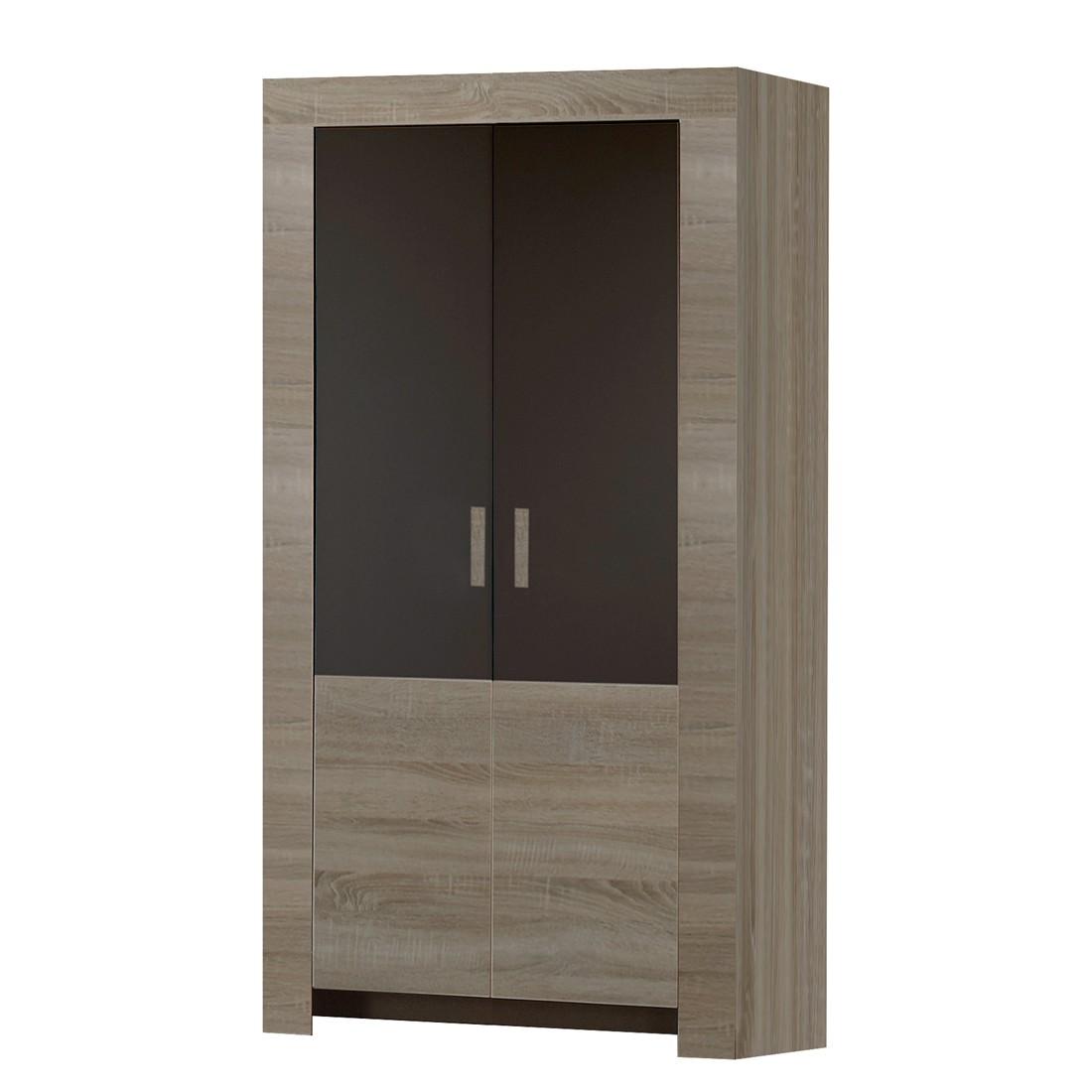 Armoire à vêtements Emma - Chêne - Gris - 2 portes, Wimex