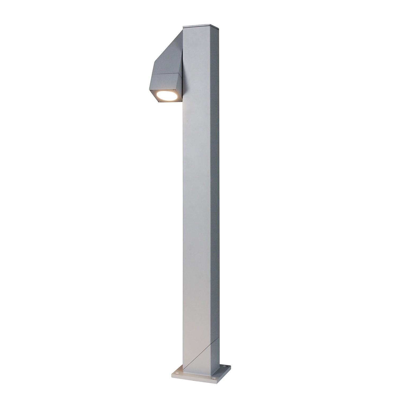 EEK A++, Energiespar-Außensockelleuchte Pan II 1-flammig - Silber Aluminium, Näve