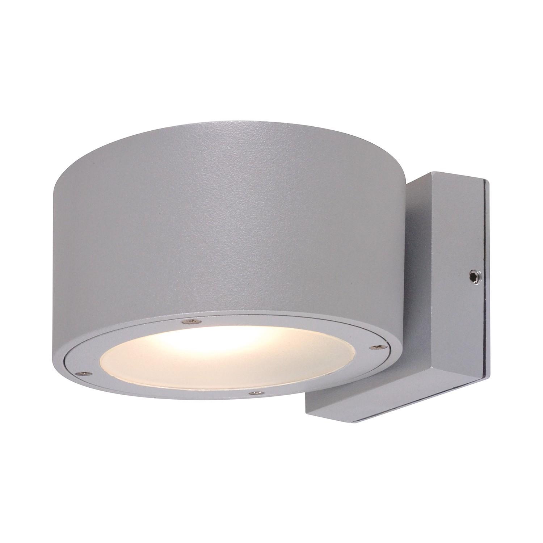 EEK A++, Energiespar-Außenwandleuchte Bar 2-flammig - Silber Aluminium, Näve