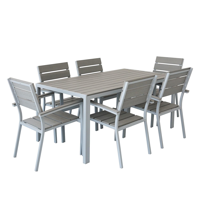 Essgruppe KUDO V (7-teilig) - Polywood / Aluminium