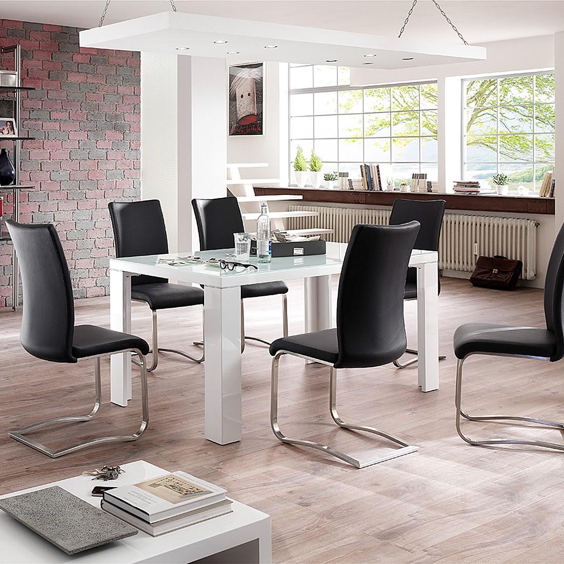 home24 Essgruppe Toivo (7-teilig) | Küche und Esszimmer > Essgruppen | Schwarz | loftscape