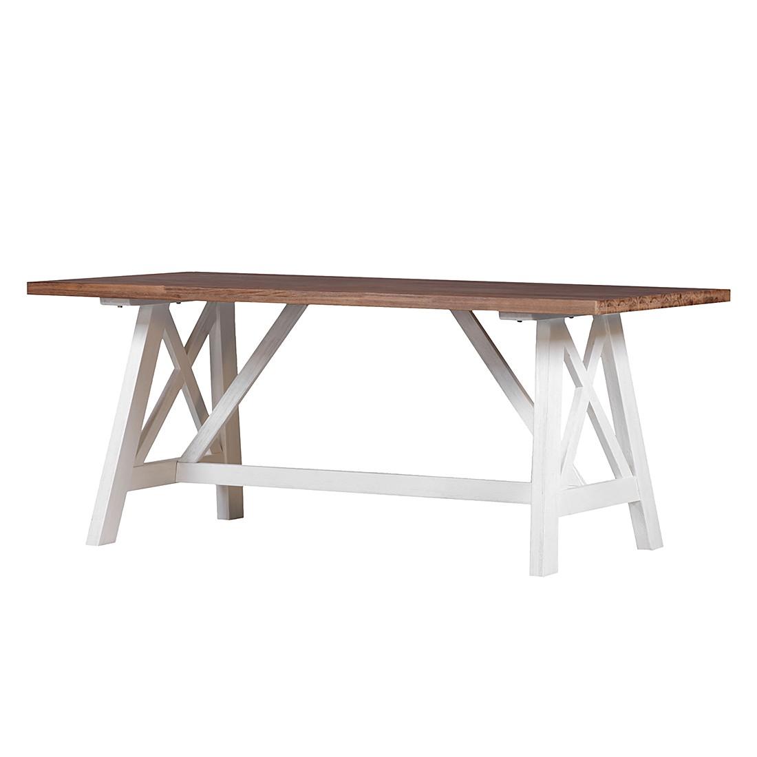 Table à manger Akazia II - Acacia partiellement massif - Verni, Ridgevalley