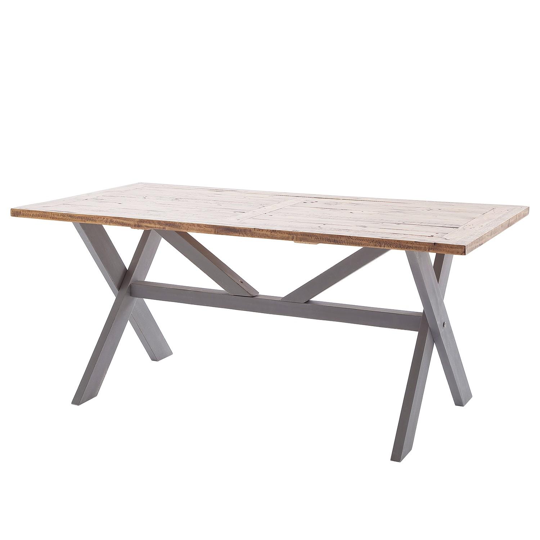 Table de salle à manger Balignton l - Pin massif - Gris, Maison Belfort