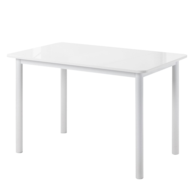 Table à manger Broome - Blanc brillant, Home Design