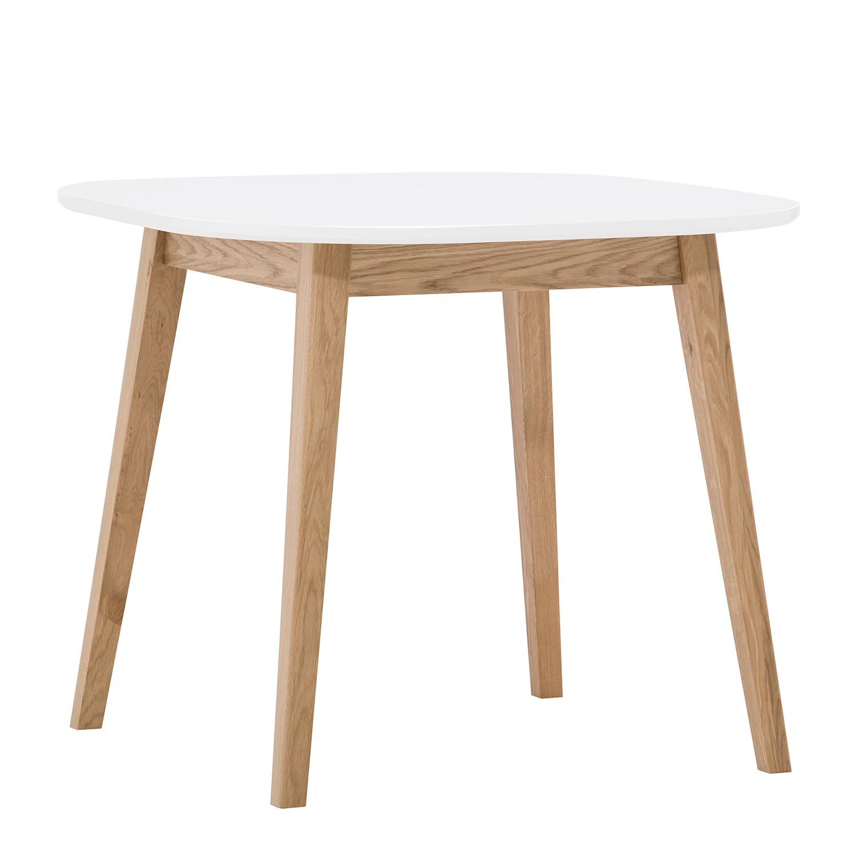 Image of Tavolo da pranzo - legno lamellare di quercia - quercia / bianco, Morteens