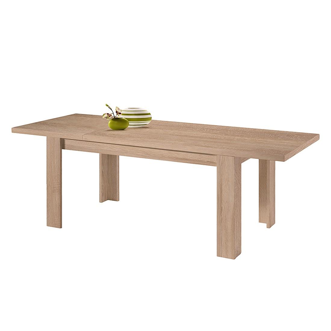 Table à manger Leaf II (extensible) - Imitation chêne brut de sciage - 160 x 90 cm, mooved