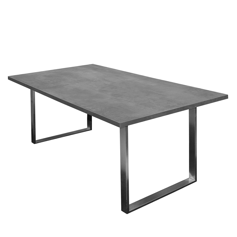 Table à manger Leaf I - Graphite - 160 x 90 cm, mooved