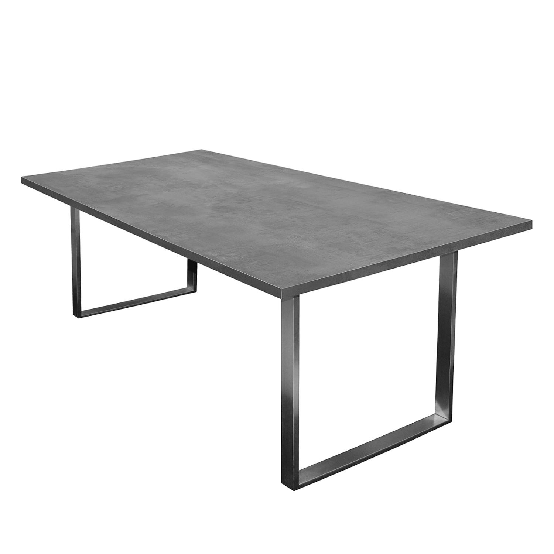 Table à manger Leaf I - Graphite - 180 x 90 cm, Fredriks