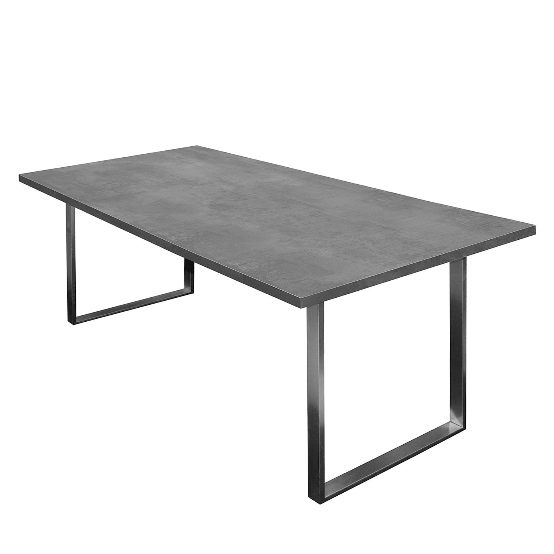 Table à manger Leaf I - Graphite - 200 x 100 cm, mooved