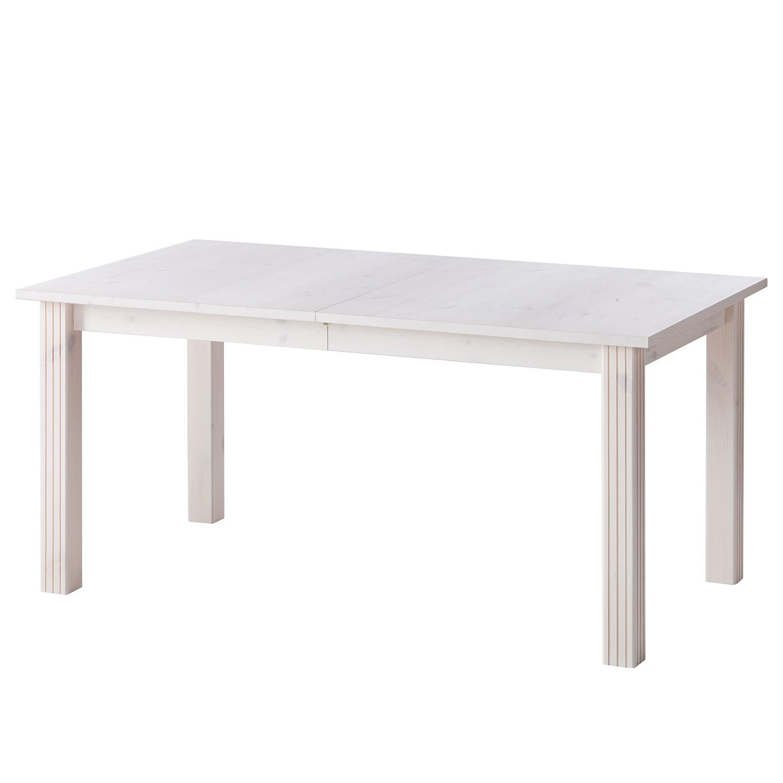 Table de salle à manger Lyngby (extensible) - Pin massif - Blanc, Maison Belfort