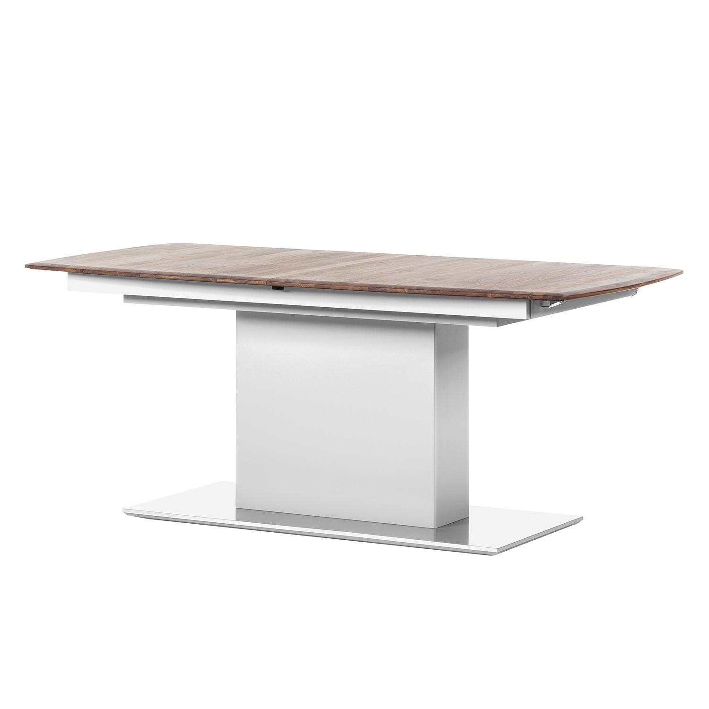 Table à manger Solano - Noix / Blanc - Avec rallonge centrale et plateaux insérés, Netfurn by GWINNER