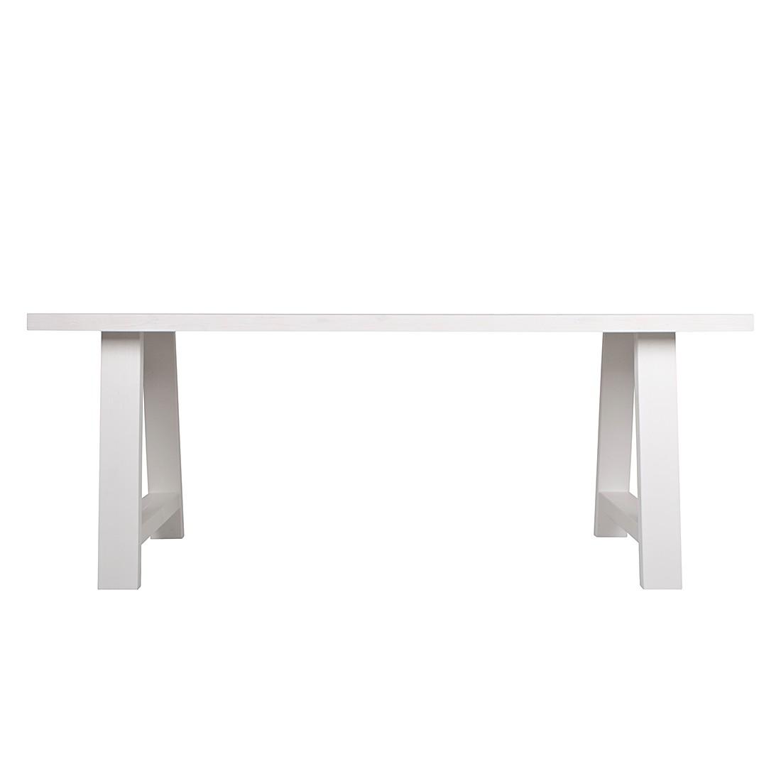 Table à manger Top Framed - Pin blanc - 200 x 90 cm, Zuiver