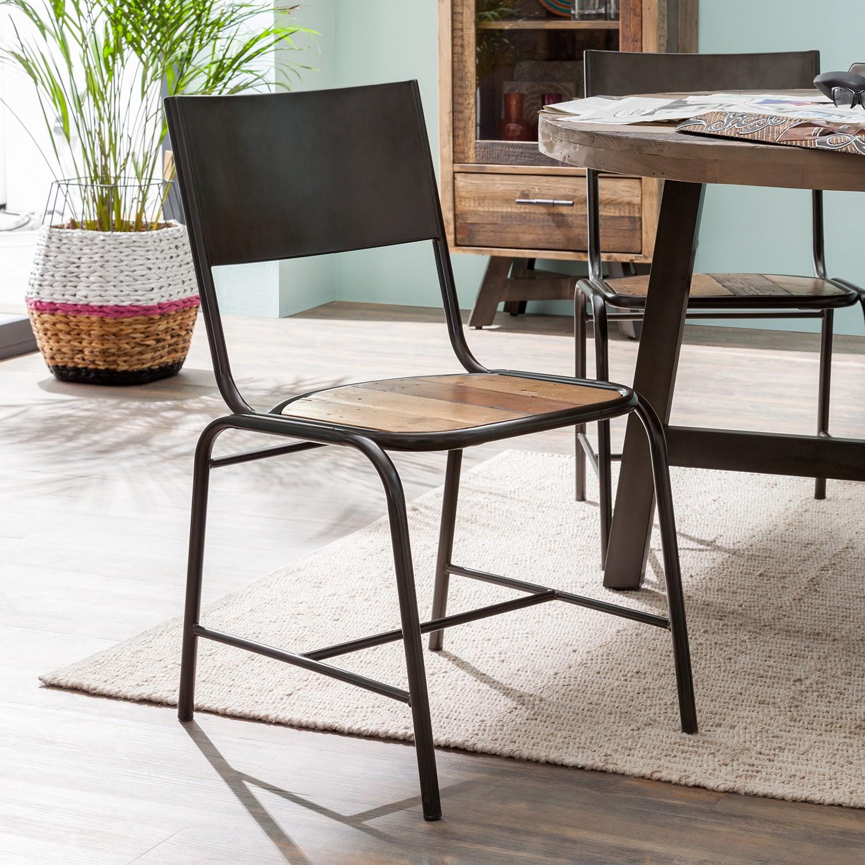 Esszimmerstuhl Tamati (2er-Set)   Küche und Esszimmer > Stühle und Hocker > Esszimmerstühle   Braun   Metall   ars manufacti
