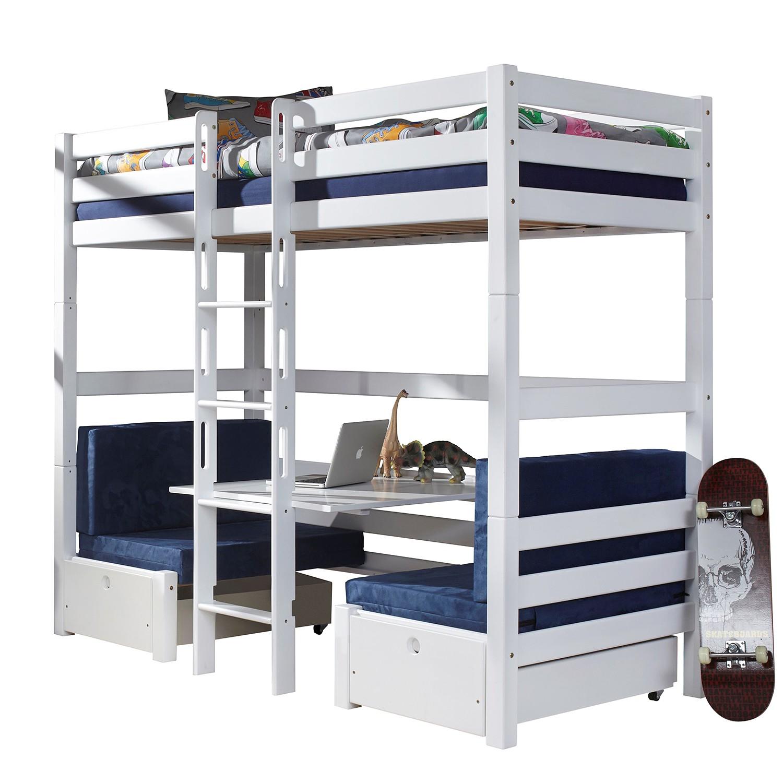 home24 Etagenbett Finley | Kinderzimmer > Kinderbetten > Etagenbetten | Weiss | Massivholz | Relita