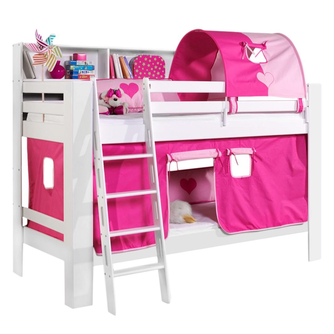 home24 Etagenbett Jan | Kinderzimmer > Kinderbetten > Etagenbetten | Weiss | Massivholz | Relita