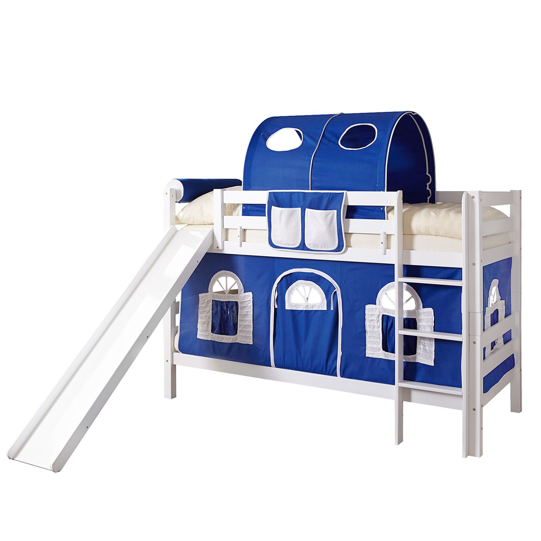 home24 Etagenbett Lupo | Kinderzimmer > Kinderbetten | Weiss | Massivholz | Ticaa