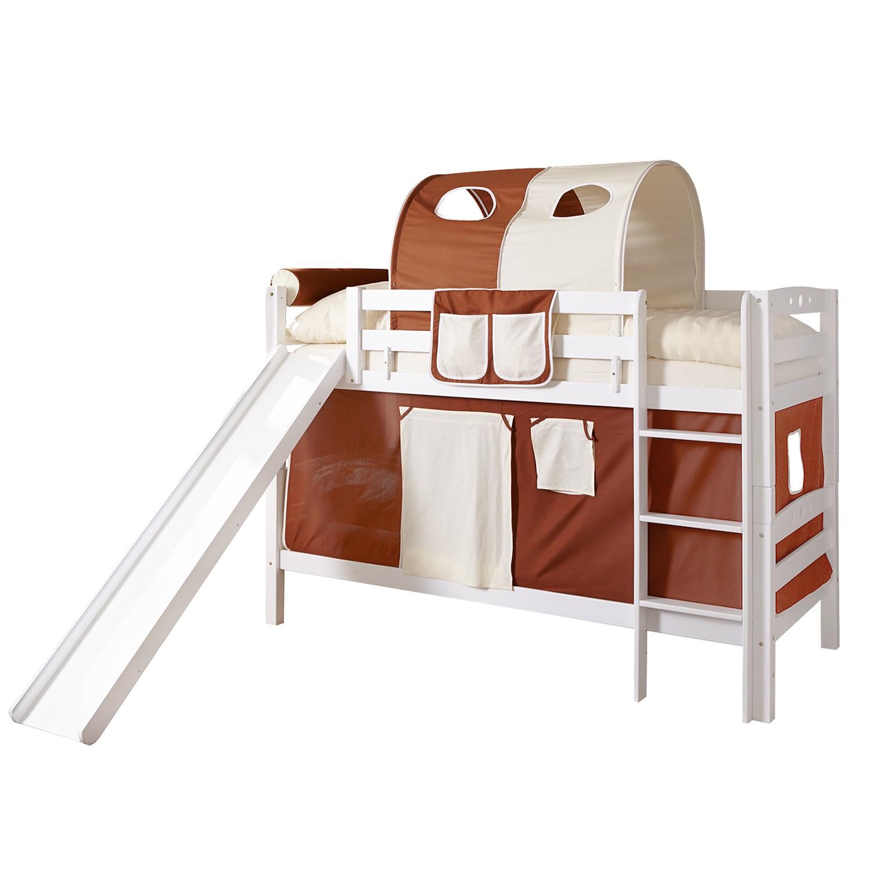 home24 Etagenbett Lupo Braun / Beige | Kinderzimmer > Kinderbetten > Etagenbetten | Weiss | Massivholz | Ticaa