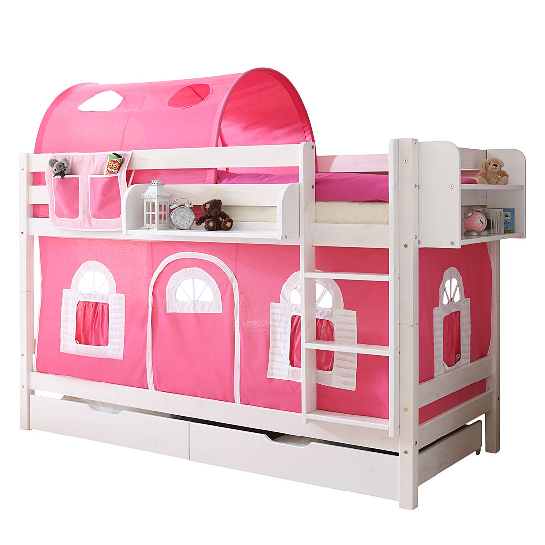 home24 Etagenbett Marcel II | Kinderzimmer > Kinderbetten | Pink | Massivholz | Ticaa