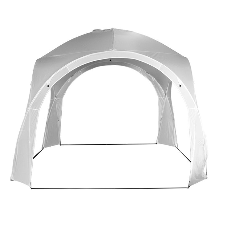 Pavillon Roma - Fiberglas / Webstoff - Weiß, Siena Garden