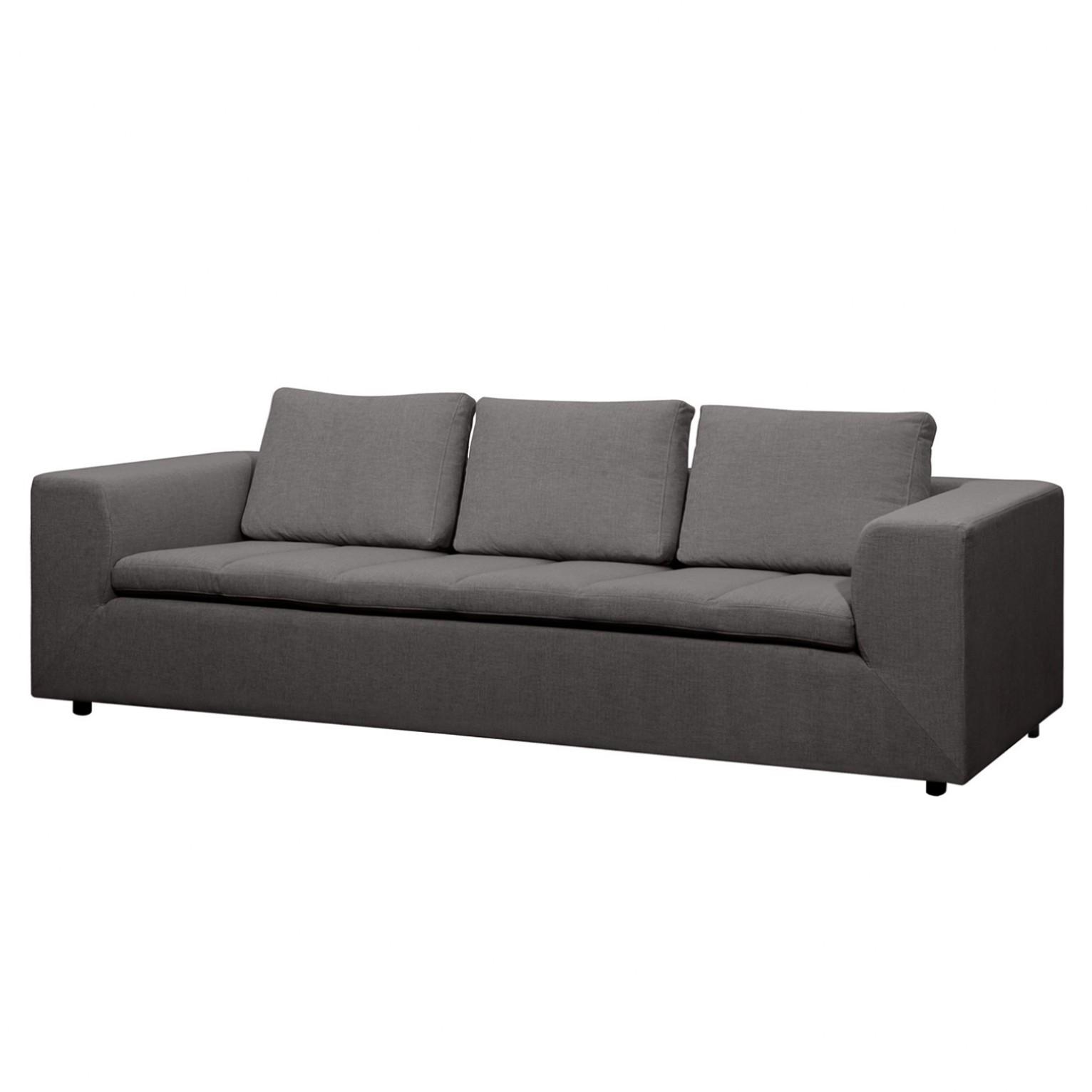 Sofa Brooklyn (3-Sitzer) Webstoff - Stoff Anda II Anthrazit