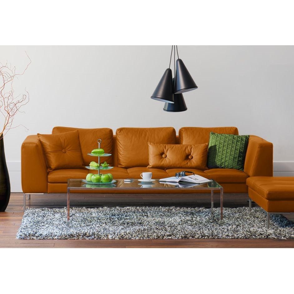home24 Sofa Madison (3-Sitzer) Echtleder