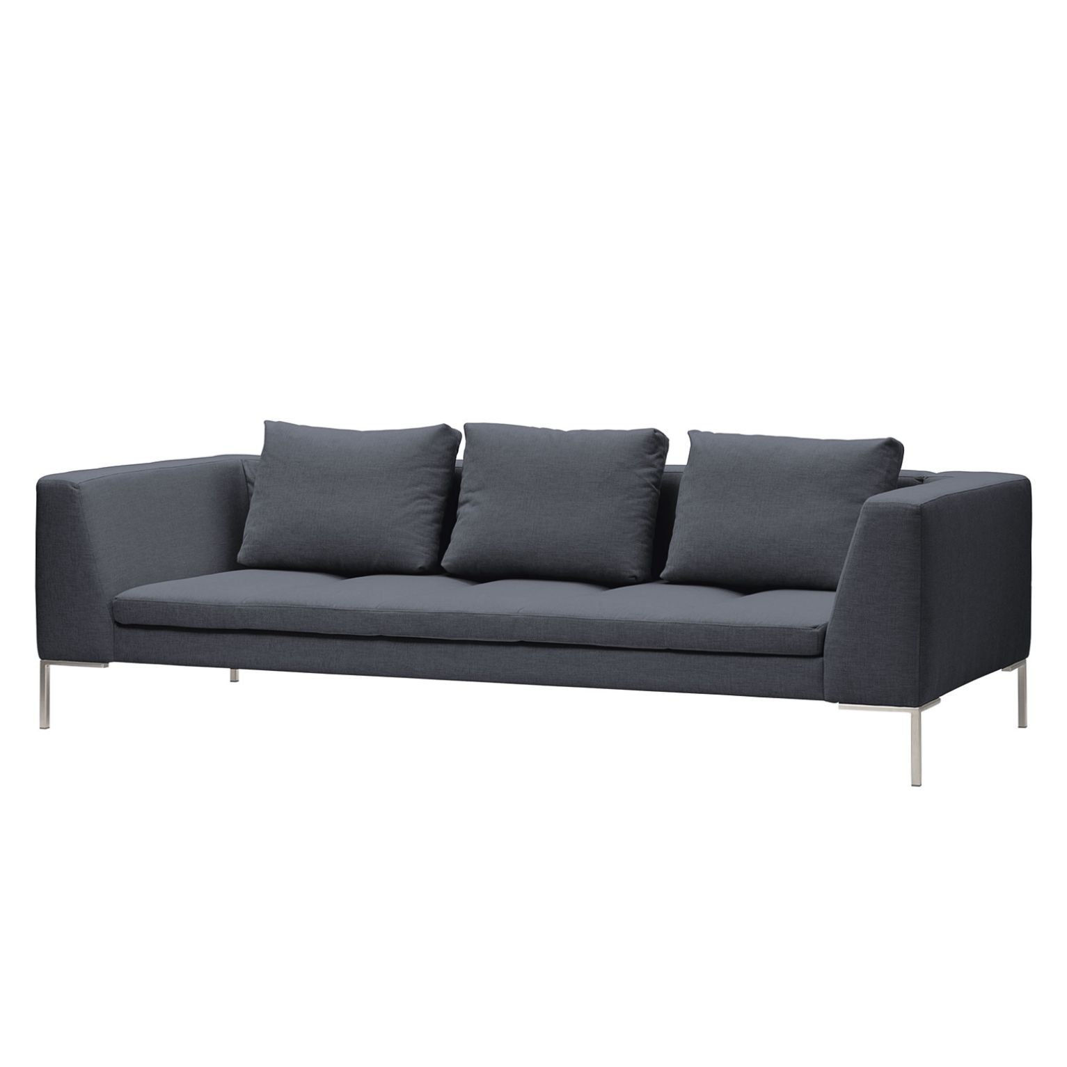 Sofa Madison (3-Sitzer) Webstoff - Stoff Milan Anthrazit