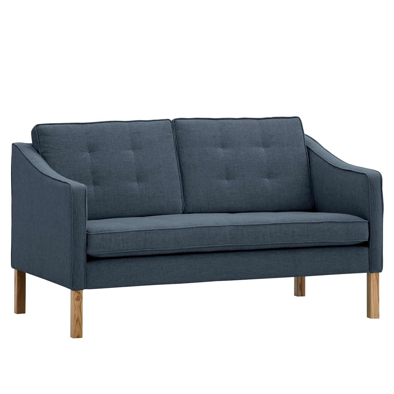 Sofa Risor (2-Sitzer) Webstoff - Stoff Anda II Grau