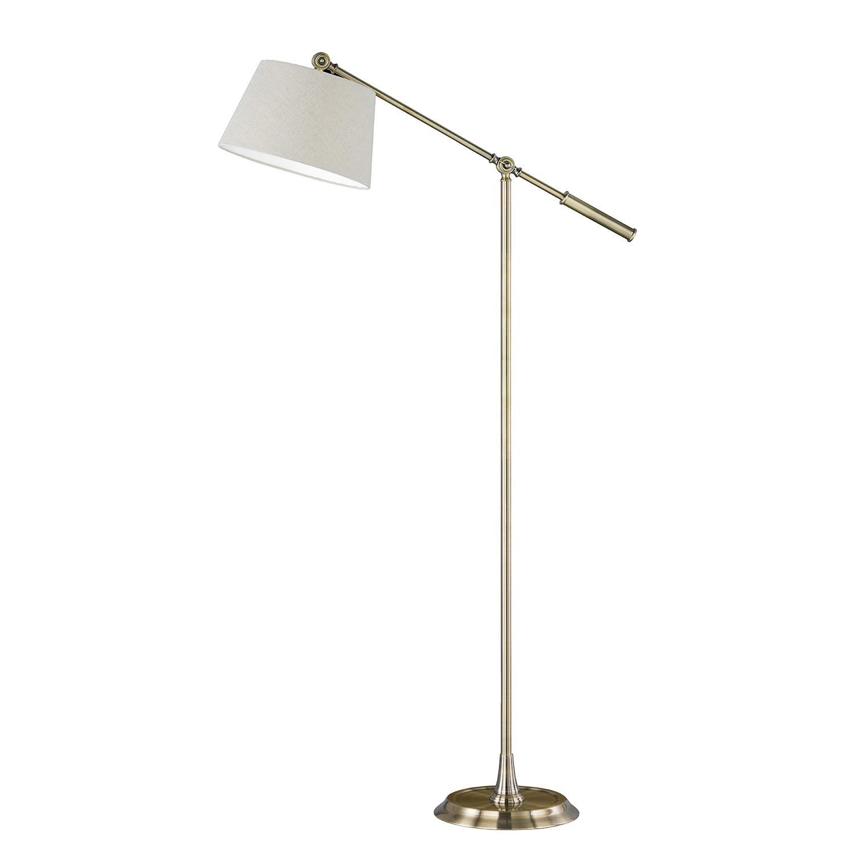 EEK A++, Lampadaire Brighton Glam II - Tissu / Fer - 1 ampoule, Honsel