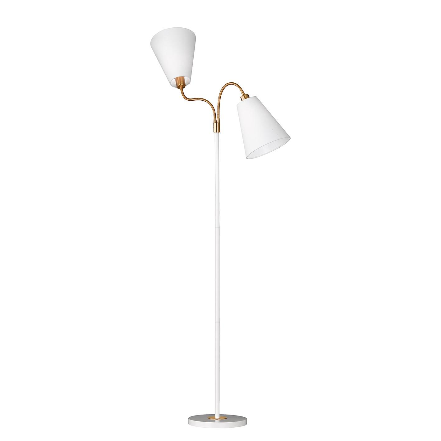 EEK A++, Lampadaire Hopper I - Tissu / Fer - 2 - Blanc, Honsel