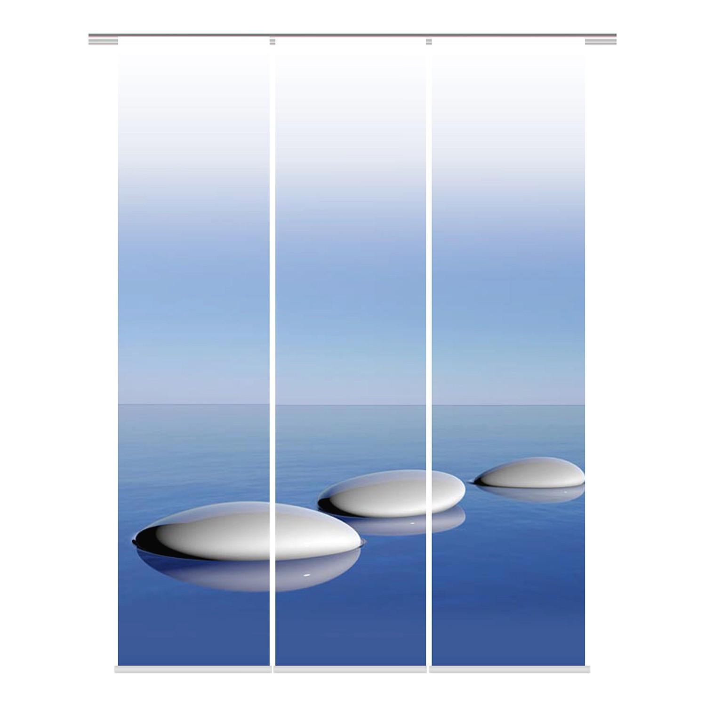 home24 Schiebevorhang Blue (3er-Set) | Heimtextilien > Gardinen und Vorhänge > Schiebegardinen und Schiebevorhänge | Blau | Textil | twentyfour
