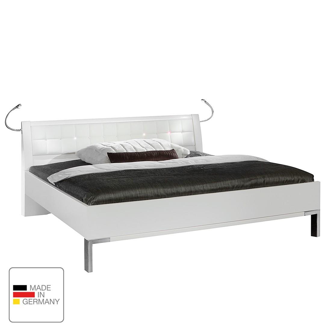 goedkoop energie A+ Bed Dubai II alpinewit 160 x 200cm Met verlichting Wiemann