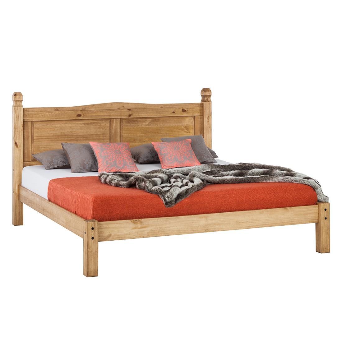Lit en futon Finca Rustica - Pin massif - Ciré - 140 cm x 200 cm, Landhaus Classic