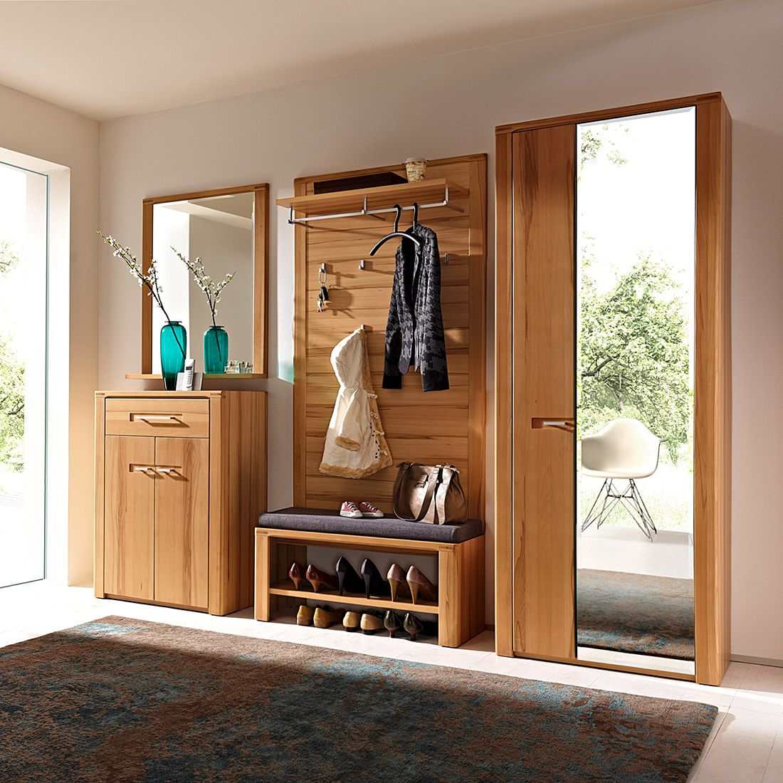 home24 Garderobenset NatureStar (5-teilig) | Flur & Diele > Garderoben | Braun | Naturoo
