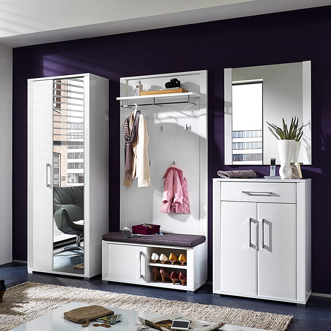 Garderobe wei hochglanz preisvergleich die besten - Home24 garderobe ...