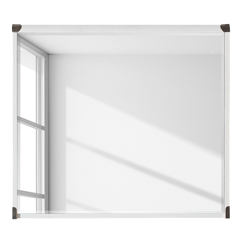 Miroir ramsing imitation pin blanc 90 cm red living for Miroir hauteur 90 cm