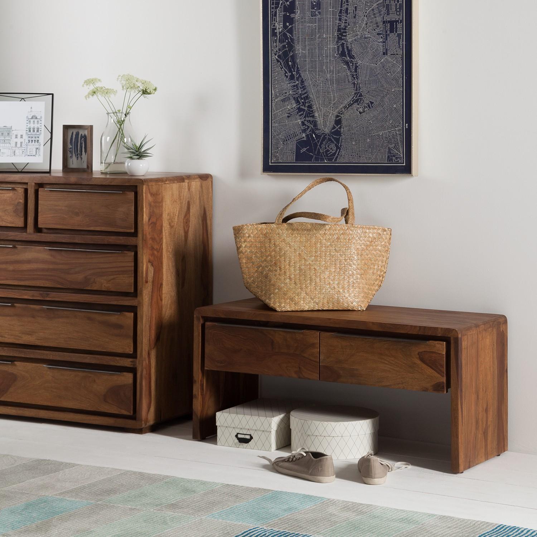 home24 Garderobenbank Trangle | Flur & Diele > Garderoben > Garderobenbänke | Beige | Massivholz | Ars Natura