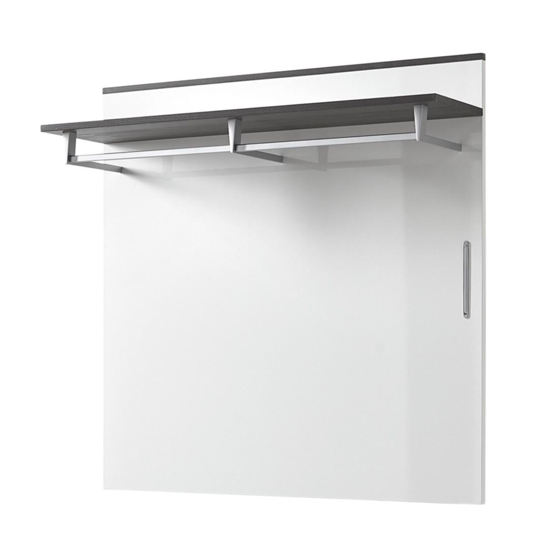 Garderobenpaneele wei hochglanz preisvergleich die for Garderobenpaneel grau