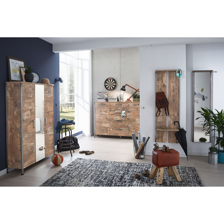 home24 Garderobenpaneel Harkon | Flur & Diele > Garderoben > Garderobenpaneele | Braun | Schildmeyer