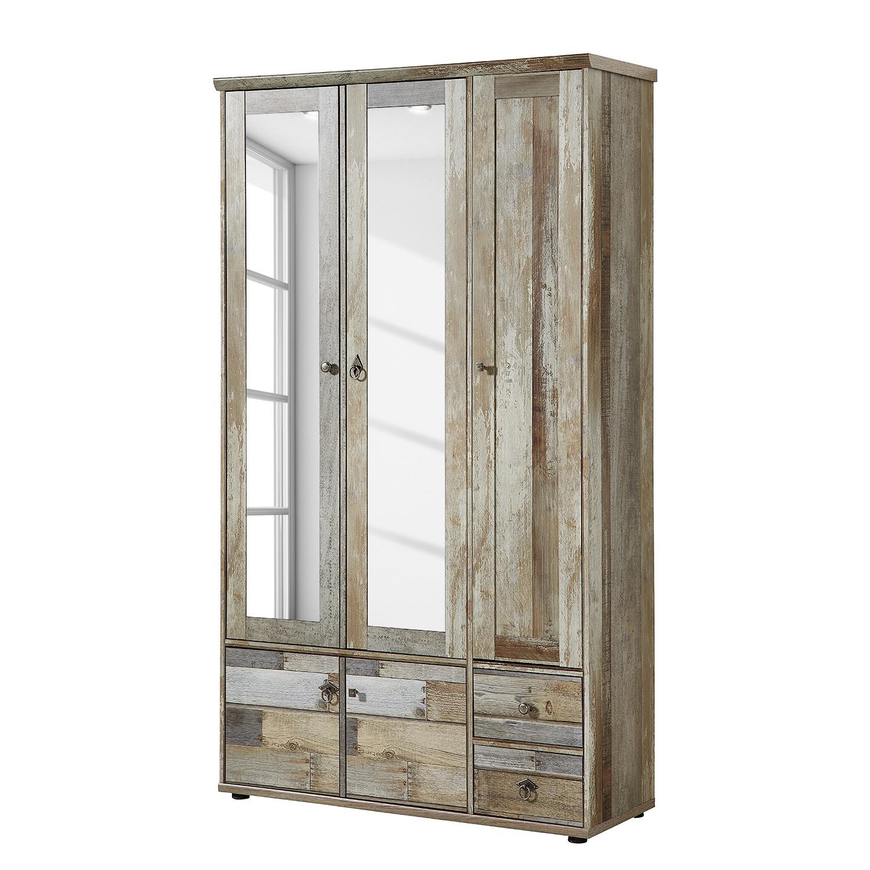 Armoire de vestibule tapara ii marron gris atelier for Acheter armoire bureau