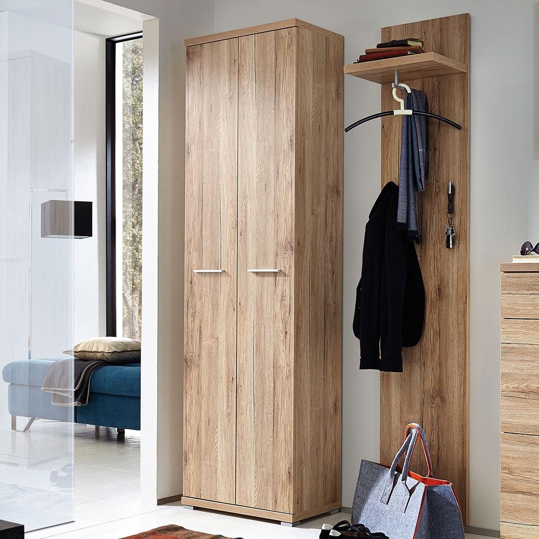 home24 Garderobenschrank Texture   Flur & Diele > Garderoben > Garderobenschränke   Braun   Holzwerkstoff   Germania